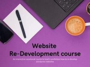 website-redevelopment course